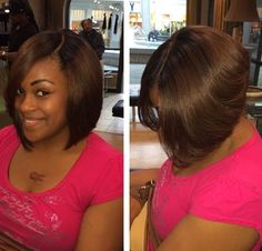 Full sew-in bob with closure--so natural!