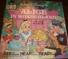 Vintage Walt Disney Alice In Wonderland Record 306 Alice Book, Alice In Wonderland Book, Walt Disney Story, Disney Records, Film Disney, Disney Music, Adventure Film, Disney Shows, The Best Films