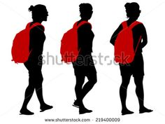 student with backpack silhouette - Google Search
