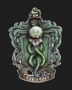 Slytherin by NikiVandermosten on DeviantArt Harry Potter Death, Slytherin Harry Potter, Harry Potter Tattoos, Ravenclaw, Harry Potter Artwork, Harry Potter Room, Voldemort, Death Eater Tattoo, Dark Mark Tattoos