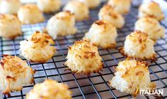 2-Ingredient Coconut Macaroons are perfectly sweet, beautifully toasted on the outside and moist and chewy on the inside. With this lazy ... Edible Christmas Gifts, Christmas Treats, Christmas Baking, The Slow Roasted Italian, Road Trip Food, Gf Recipes, Baking Recipes, Cookie Recipes, Pecan Cookies