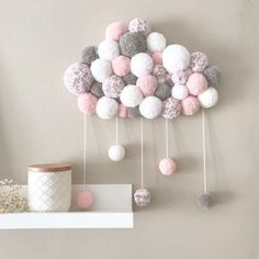 Diy dco chambre enfant inspiration 65 Ideen - Diy dco chambre enfant inspiration 65 Ideen Best Picture For diy face mask For Your Taste Yo - Diy Home Crafts, Baby Crafts, Pom Pom Crafts, Dollar Store Crafts, Baby Room Decor, Room Baby, Crafts For Teens, Girl Room, Diy Art