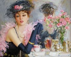 Pictures by russian artist Konstantin Razumov are really beautiful.  Influenced by many styles, he mastered the technique of combining realism and impressionism.