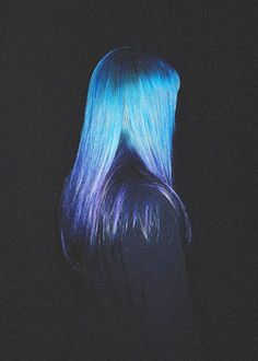 Blue/purple ombre. Never, but this is awesome.