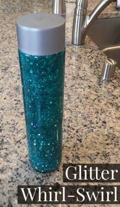 DIY Sensory Bottles - Especially Education Diy Crafts For Girls, Crafts For Seniors, Diy For Kids, Fun Crafts, Glitter Sensory Bottles, Glitter Jars, Calm Down Jar, Pinterest Projects, Preschool Crafts