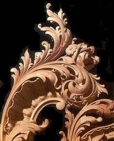 Hand Carved Basswood Wall Sconce with Foliage