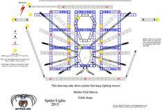 "KISS 40th Anniversary World Tour  Spider Lights Light Plot Hanging Points  Lightign Design: Sean ""Motley"" Hackett"