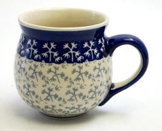 The Medium Belly Mug (Frosty Thicket) High-Quality Polish Stoneware from the largest supplier in the western United States - The Polish Pottery Outlet in Englewood, CO