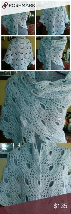 """THE """"ANASTASIA"""" HANDMADE SHAWL Stylish, soft and beautiful hands shawl. Handmade. handmade Accessories Scarves & Wraps"""