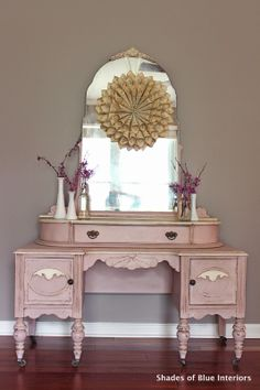 Shades of Blue Interiors: Makeover Monday: Vanity in Antoinette Chalk Paint® Decorative Paint by Annie Sloan