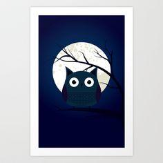 Owl Art Print by Galgalosh - $12.48