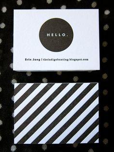 Erin Jang Letterpress business card + Striped back Letterpress Business Cards, Business Branding, Business Card Design, Business Poster, Letterpress Invitations, Identity Design, Graphic Design Branding, Corporate Design, Logo Inspiration