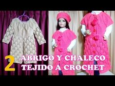 ABRIGO, SUÉTER Y CHALECO (parte 1) PARA NIÑAS DE 6 A 9 AÑOS TEJIDO  A CROCHET PASO A  PASO - YouTube