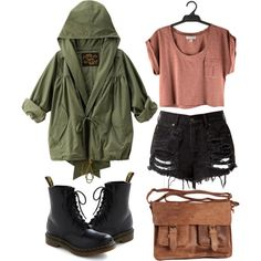 Untitled by hanaglatison on Polyvore featuring Dr. Martens and Rowallan
