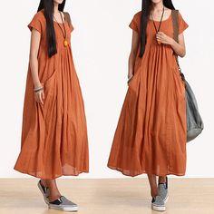 Loose Fitting Long Maxi Dress - Summer Dress - Sleeveless Cotton Sundress for Women