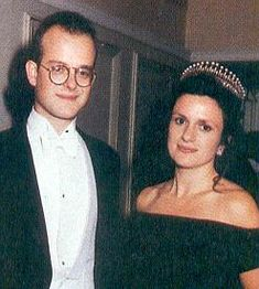 The Countess of St. Andrews with her brother-in-law, Lord Nicholas Windsor. She is wearing the new form of the Crochet tiara.
