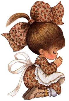 Sarah Kay- take off the bow! Sarah Key, Holly Hobbie, Cute Images, Precious Moments, Cute Illustration, Vintage Pictures, Copic, Vintage Children, Clipart