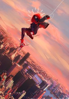 Spider-Man Into the Spider-Verse Miles Morales Amazing Spiderman, Spiderman Spider, Spider Man Comic, Marvel Dc Comics, Marvel Avengers, Marvel Memes, Marvel Wallpapers, Logo Super Heros, Top Superheroes