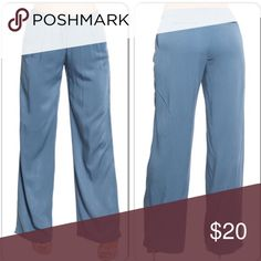 Wide leg blue career pants New with tags Pants Trousers