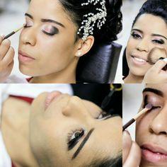 Um pouco do meu trabalho!!! Amo maquiagem  Make noiva