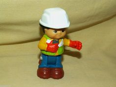 FISHER PRICE LITTLE PEOPLE MAX CONSTRUCTION WORKER MAN 09/08 MTN LOOSE HARD HAT #FisherPrice