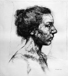 "mydarkenedeyes: ""Alison Lambert "" Personal Investigation, Charcoal Drawings, Drawing S, Printmaking, Mental Health, Sketches, Faces, Study, Portraits"