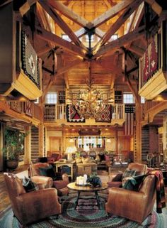 Western Living Area | Mountain > Great Rooms | LUXE Source