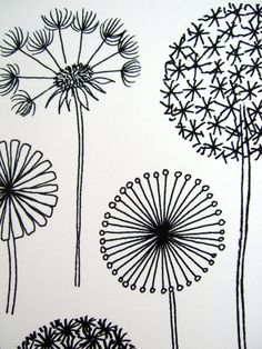Dandelions limited edition giclee print by EloiseRenouf on Etsy