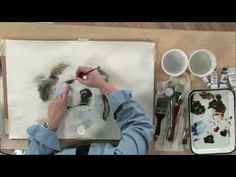 Preview Watercolor Secrets: Realistic Pets with Carrie Stuart Parks now for watercolor painting lessons on painting wet-into-wet, mixing color, creating hard and soft edges, and how to add highlights to eyes of this puppy. Then visit http://ArtistsNetwork.tv for access to the full-length version of this video.