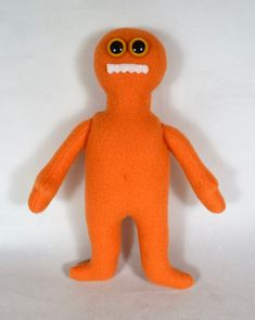 Orange Monster For Kids - Handmade Toy Doll - Soft Plushie - Stuffed Animal Mini Monster, Monster Dolls, African American Dolls, Birthday Gifts For Kids, Asian Doll, Dinosaur Stuffed Animal, Stuffed Animals, Cat Doll, Doll Shop