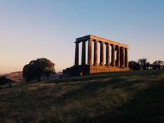 National Monument of Scotland at sunset, Calton Hill, Edinburgh