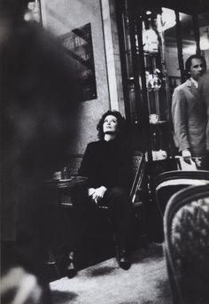 Anouk Aimée at the Café de Flore.