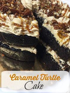 caramel-turtle-cake