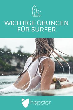 SURF-WORKOUT: So einfach machst Du Dich fit für den Surfurlaub!SURF WORKOUT: It's so easy to get fit for your surf vacation! Whether you are a beginner or a full professional - if you want to surf well and above all a lot, you Kitesurfing, Surf Van, Sup Surf, Aloha Surf, Surf Girls, Wakeboarding, Fitness Workouts, Fitness Logo, Surf Workout