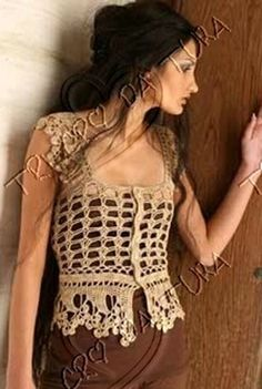 Summer open weave vest with gorgeous trim work