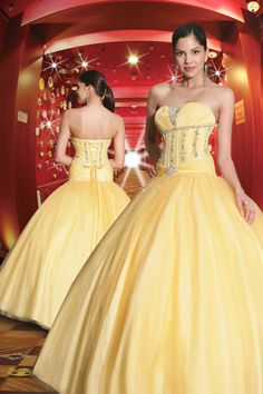 2012 Yellow Sparkle ball gown prom 70113