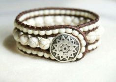 White triple row bracelet