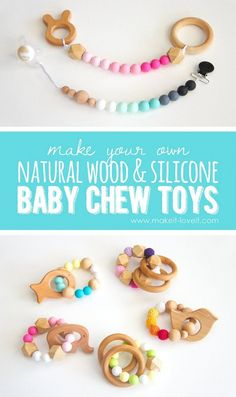 How to make Natural Wood & Silicone Baby Chew Toys | via www.makeit-loveit.com