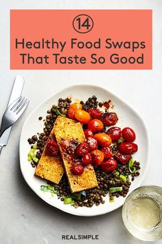 14 Healthy Food Swaps That Taste So Good | The key to eating healthier is by adding in more healthy, plant-based foods that you actually enjoy eating. Here, you'll find delicious food swaps alongside a selection of healthy recipes—precisely zero sad rabbit food suggested. #realsimple #healthyfood #healthydiet #healthytips #nutritiontips #healthyrecipes Low Calorie Recipes, Vegan Recipes, Cooking Recipes, Healthy Food Swaps, Healthy Eating, Healthy Living Tips, Healthy Tips, Rabbit Food, Eating Clean