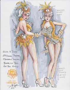 Guys and Dolls (Hot Box Girls - Bushel and a Peck). 5th Avenue Theatre. Costume design by Gregory A. Poplyk.