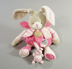 Doudou lapin Célestine velours et coton rose Doudou et Compagnie filles in Bébé, puériculture, Peluches, doudous   eBay