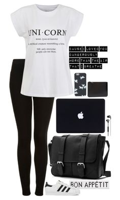 """""""Untitled #216"""" by l-have-secrets ❤ liked on Polyvore featuring Topshop, Rosanna, Ally Fashion, adidas, Marc by Marc Jacobs and Comme des Garçons"""