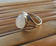 925 anello in argento anello di pietra di luna di silveringjewelry