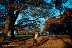 Fall light engagement Schenley Park | Pittsburgh Wedding Photographers | Aaron Varga Photography