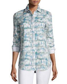 Brody Long-Sleeve Printed Blouse
