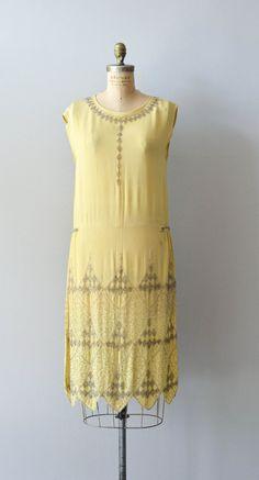 Pacific 231 dress vintage silk 20s dress beaded by DearGolden