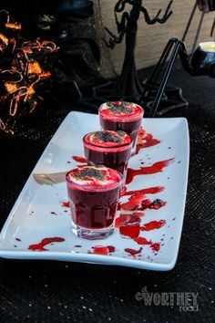 Bloodshot Clots a Halloween Drink Click through for this recipe! A Worthey Read