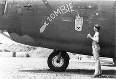 "Nose Art of the Southwest Pacific Area - ""Zombie"" - B24, 43rd Bomb Group, 64th Squadron - Serial #42-40913 - PH00005466 Frederick German Collection"