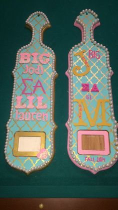 glitter ombré letters on that first paddle yes yes