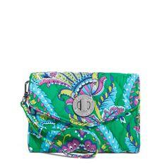 Your Turn Smartphone Wristlet in Emerald Paisley, $44 I Vera Bradley